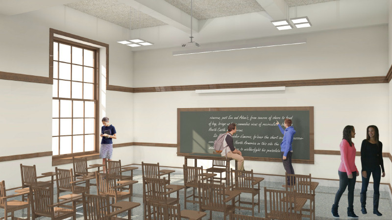 Classroom Ceiling Design ~ Historic classroom building renovation
